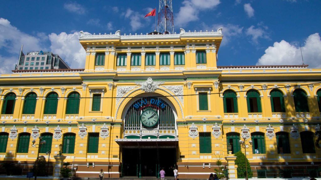 The Central Post Office in Ho Chi Minh City, Vietnam