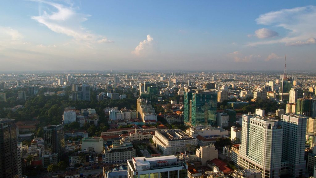 The view at Ho Chi Minh City from the Saigon Skydeck