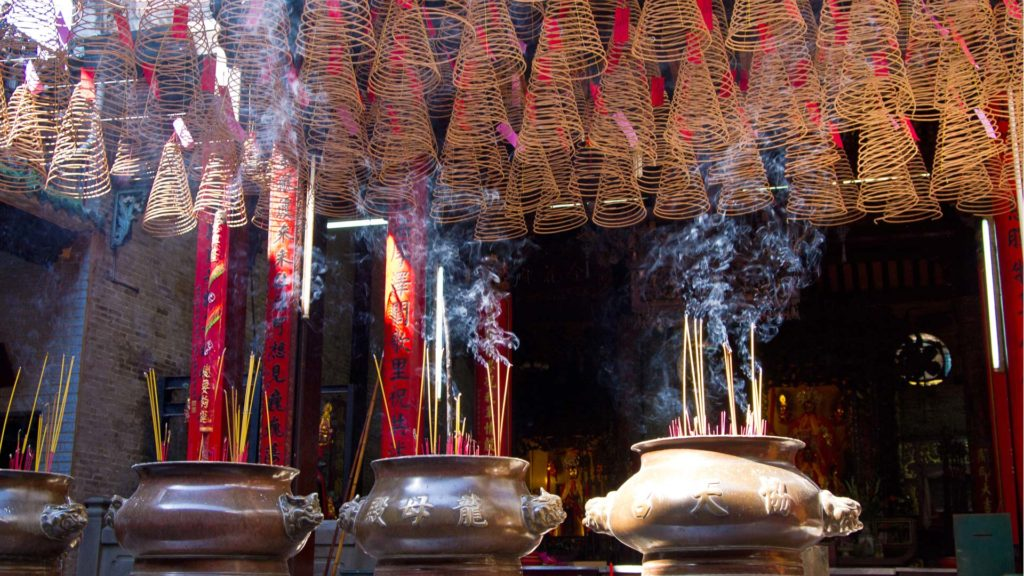 Incense sticks at the Thien Hau Temple in Ho Chi Minh City