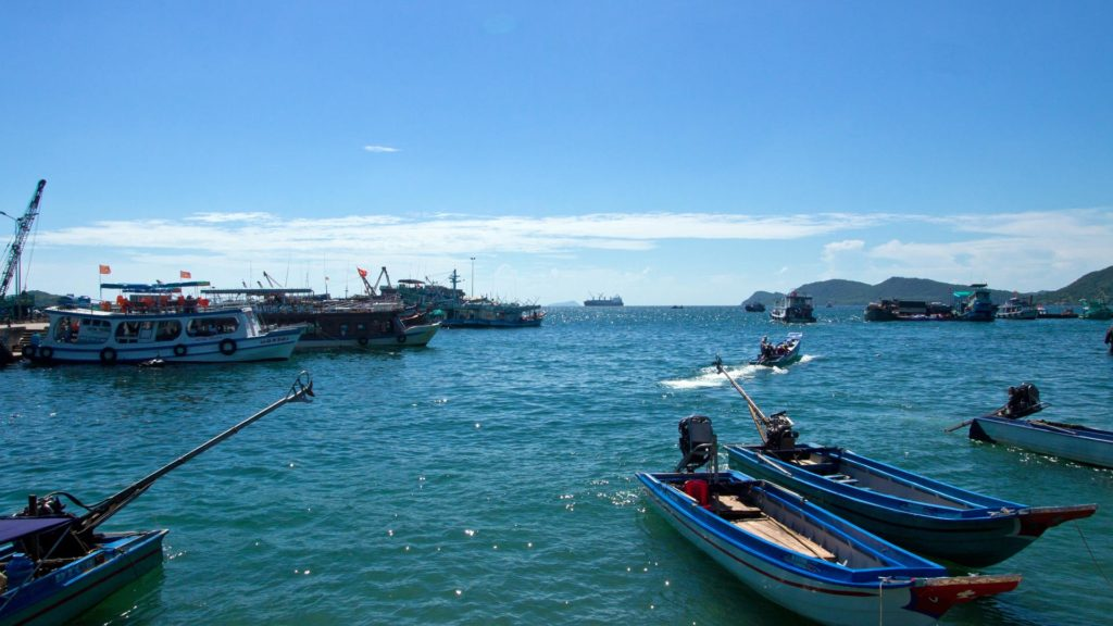 The harbor of An Thoi in the south of Phu Quoc, Vietnam