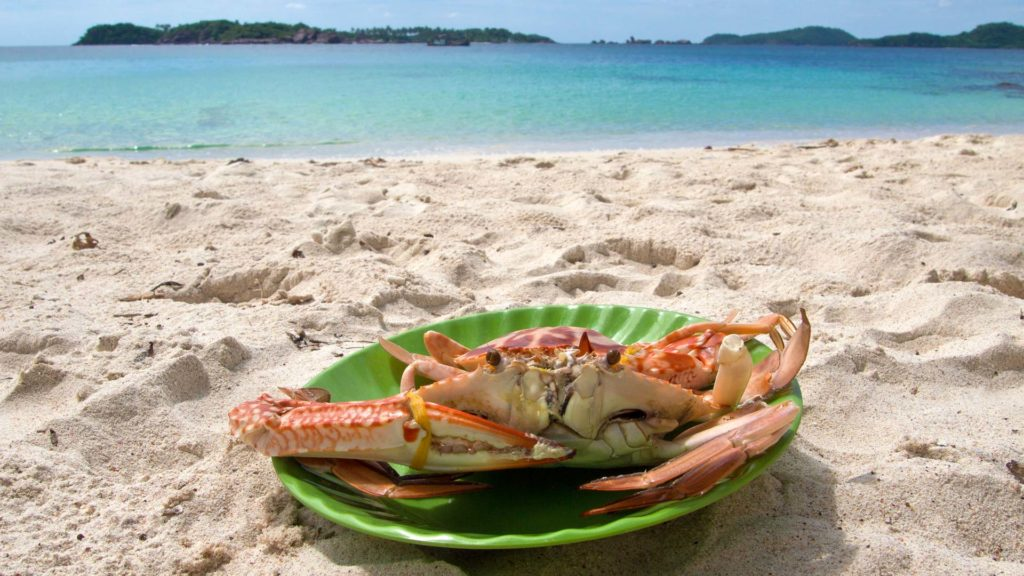 Our lunch on Fingernail Island, Phu Quoc
