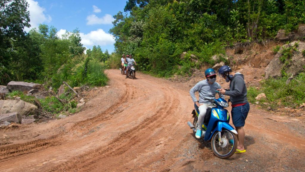 Adventurous roads on Phu Quoc, Vietnam