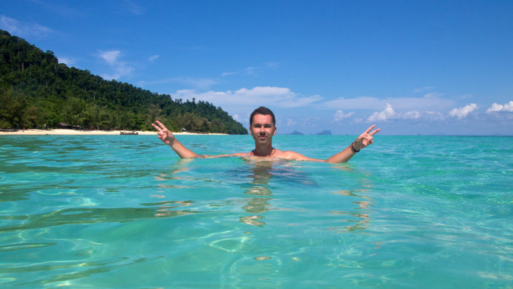 Marcel swimming at Koh Ngai, Trang
