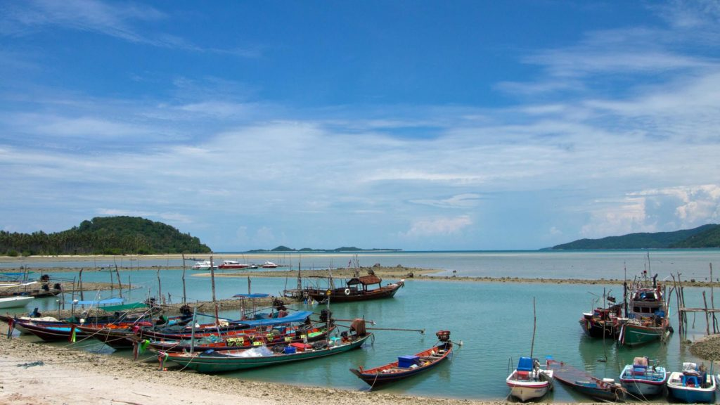 Boats at the coast of Thong Krut, Koh Samui