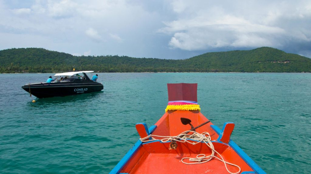 Boats off the coast of Koh Taen