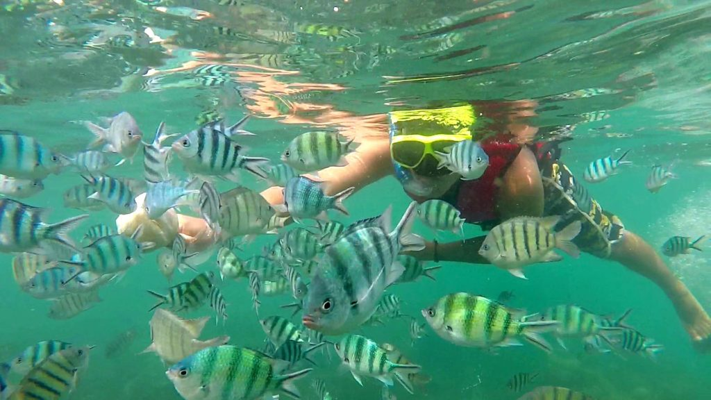 Marcel while snorkeling in front of Koh Taen, Thailand