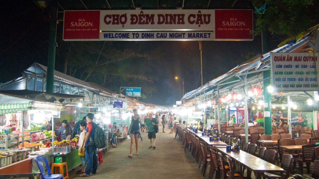The Dinh Cau night market in Duong Dong on Phu Quoc