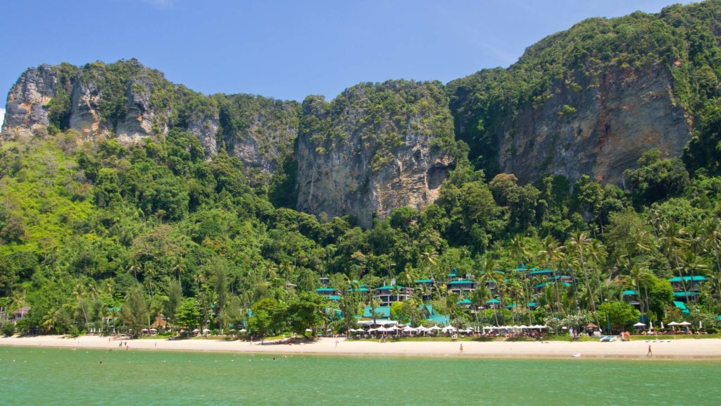 The Pai Plong Beach at the Centara Beach Resort in Ao Nang, Krabi