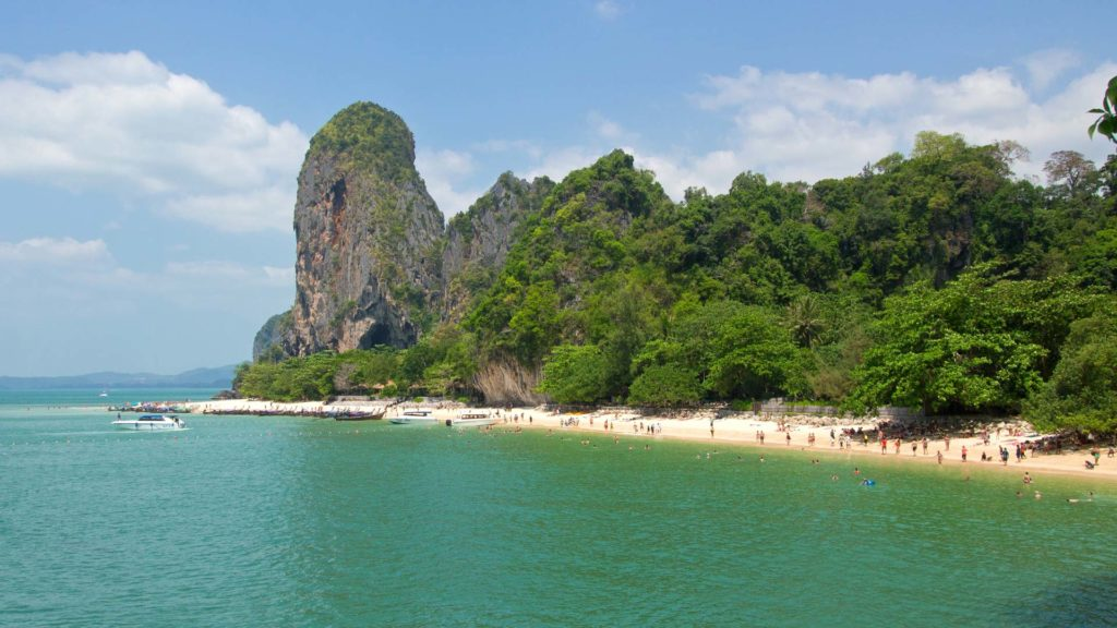 The view from the big cave at the Phra Nang Cave Beach, Krabi