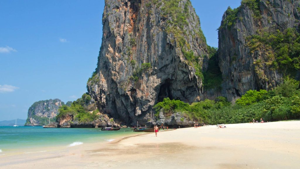 The Phra Nang Cave Beach in Ao Nang, Krabi