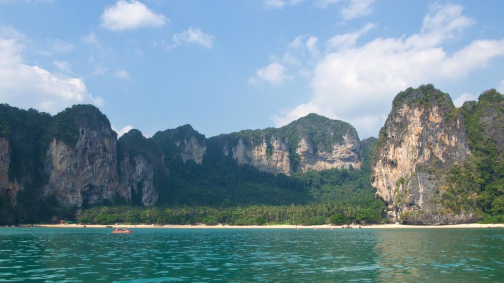 The view at Tonsai Beach in Ao Nang, Krabi