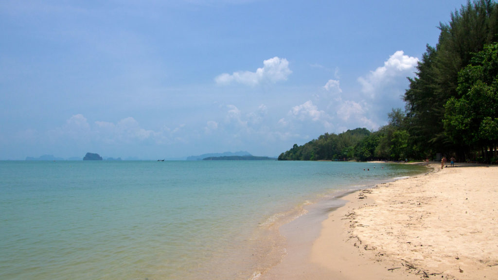Tubkaek Beach with a nice view at the Phang Nga Bay, Krabi