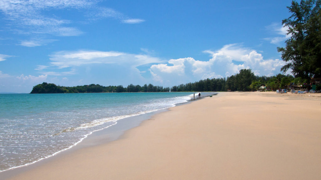 The Klong Dao Beach on Koh Lanta in Krabi