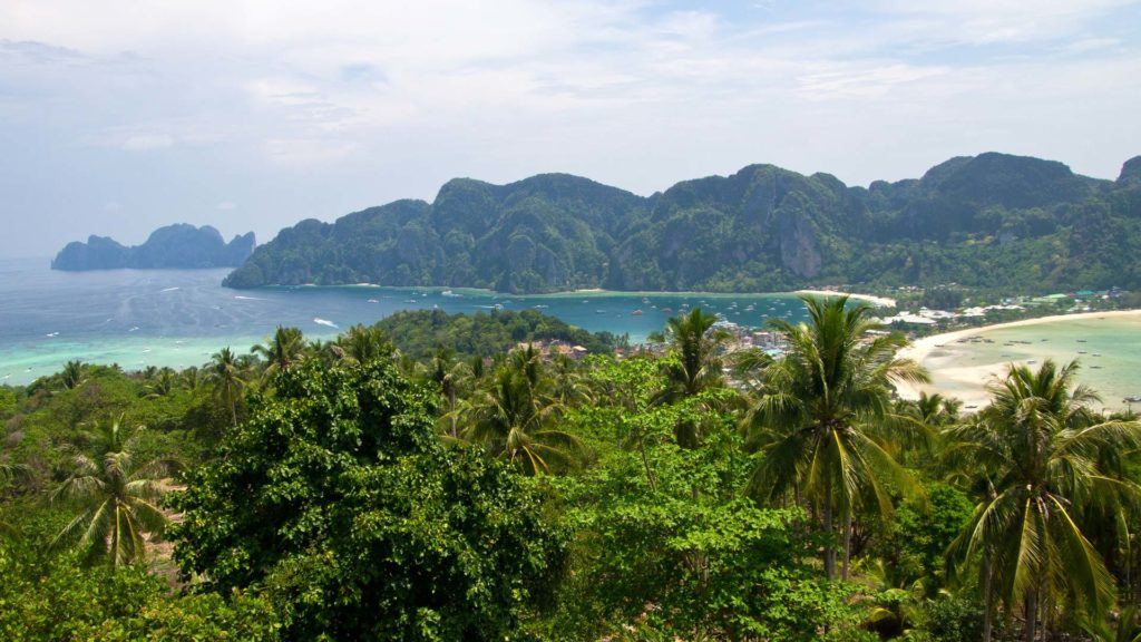 The view from the Koh Phi Phi viewpoint, Krabi