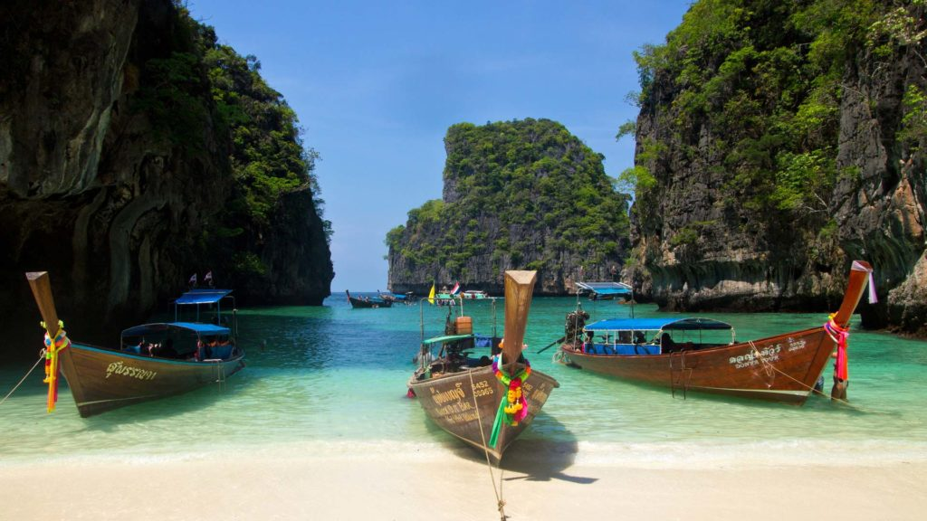The Lo Sama Bay on Koh Phi Phi Leh in Krabi