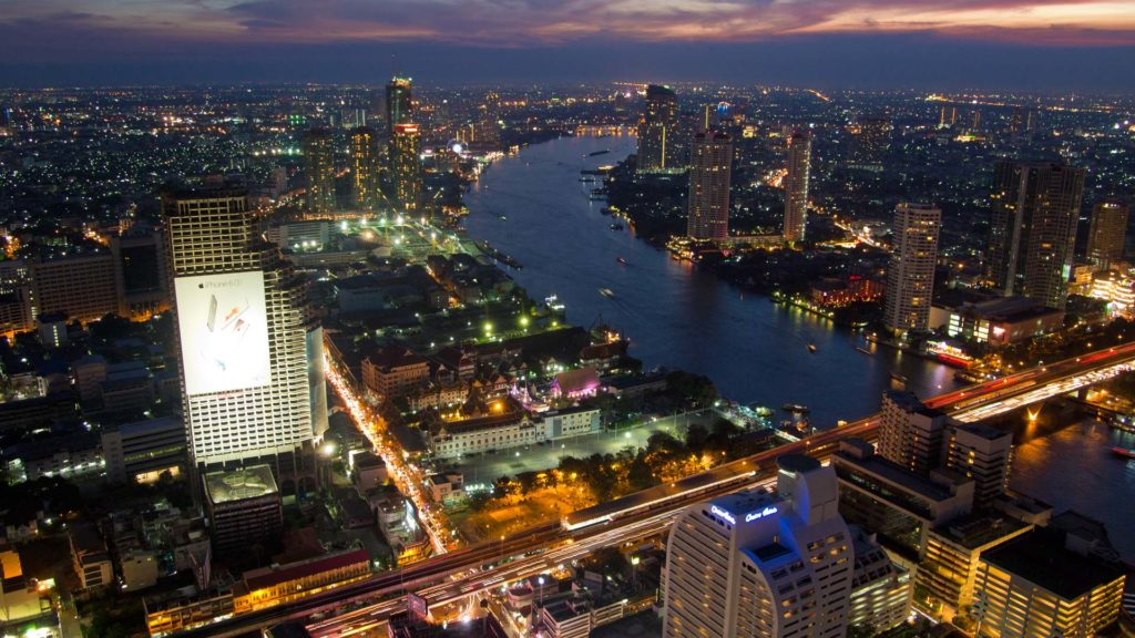 View from the Lebua at State Tower at the Chao Phraya in Bangkok, Thailand