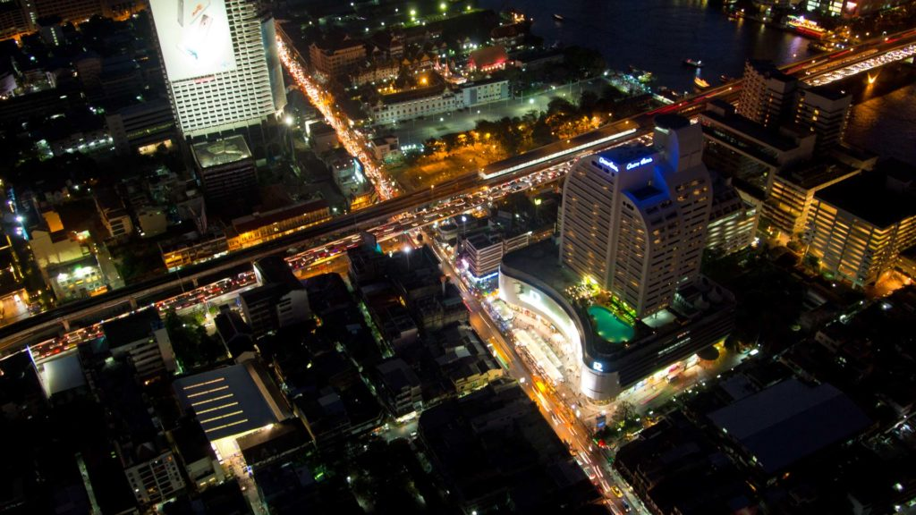 View of Sathorn from the Lebua at State Tower in Bangkok