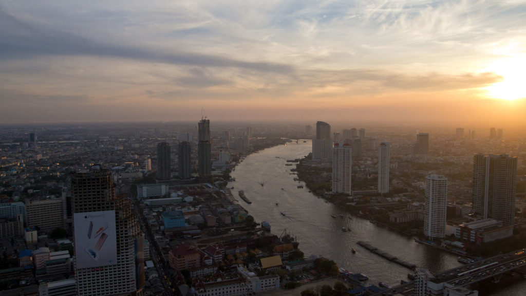 The Chao Phraya River as seen from the Lebua at State Tower, Bangkok