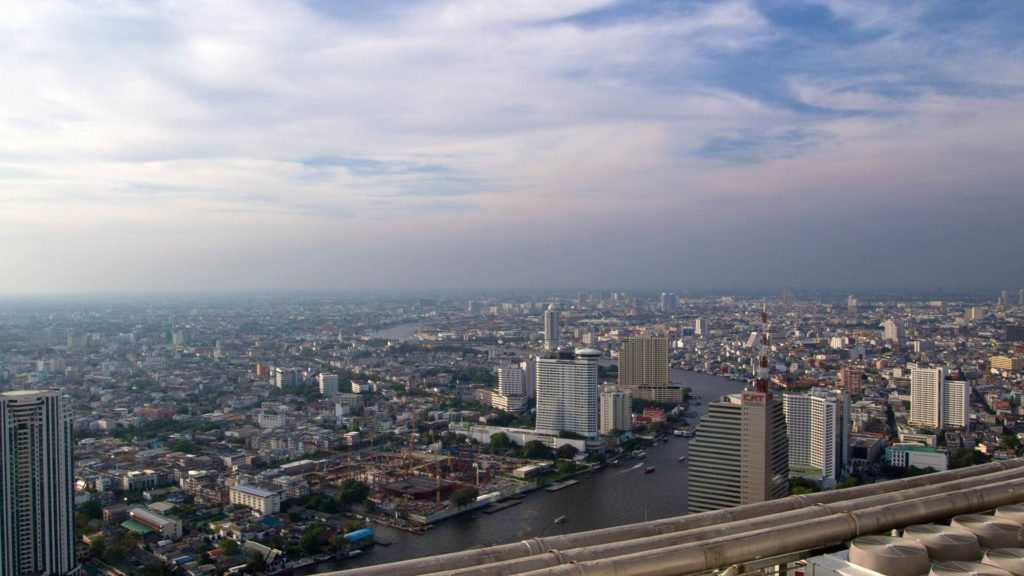View of Bangkok from the Distil Bar in the Lebua at State Tower