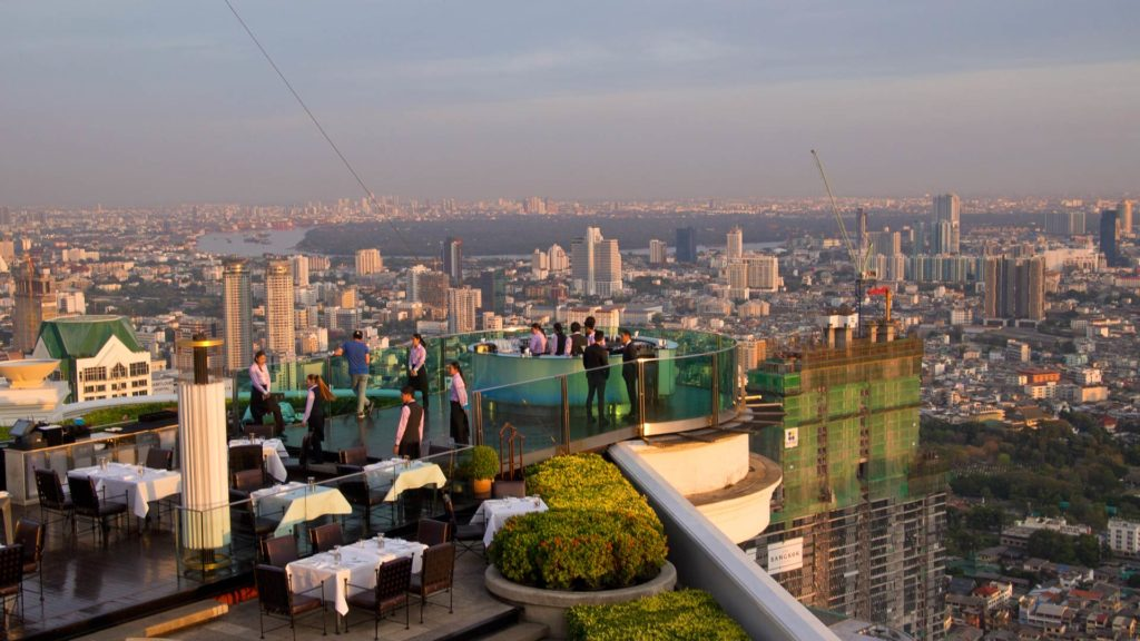 The Sirocco Bar in the Lebua at State Tower in Bangkok