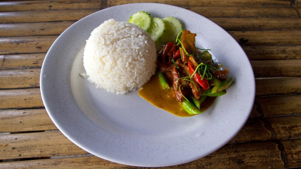 Gaeng Panaeng - spicy Panaeng Curry with pork