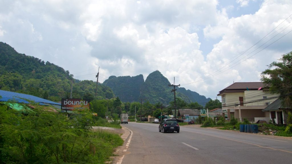 On the way to the Tiger Cave Temple in Krabi