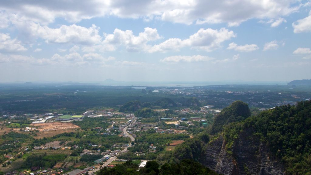 The view at Krabi Town from the Tiger Cave Temple
