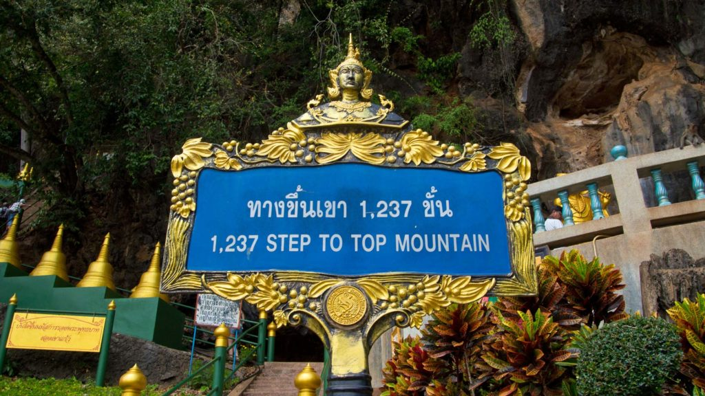 1237 stairs to the temple on top of the mountain, Tiger Cave Temple
