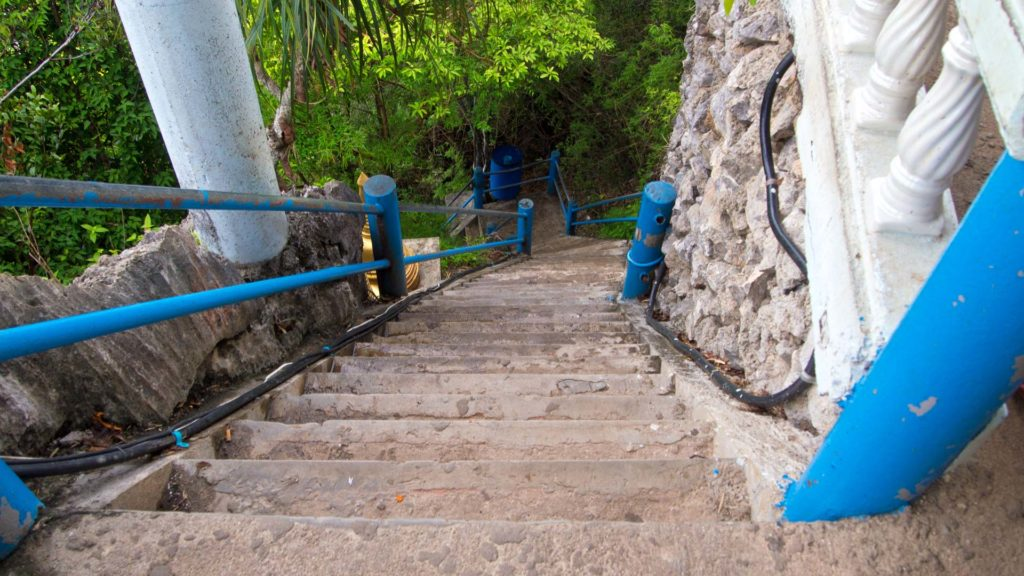 Steps at the Tiger Cave Temple in Krabi