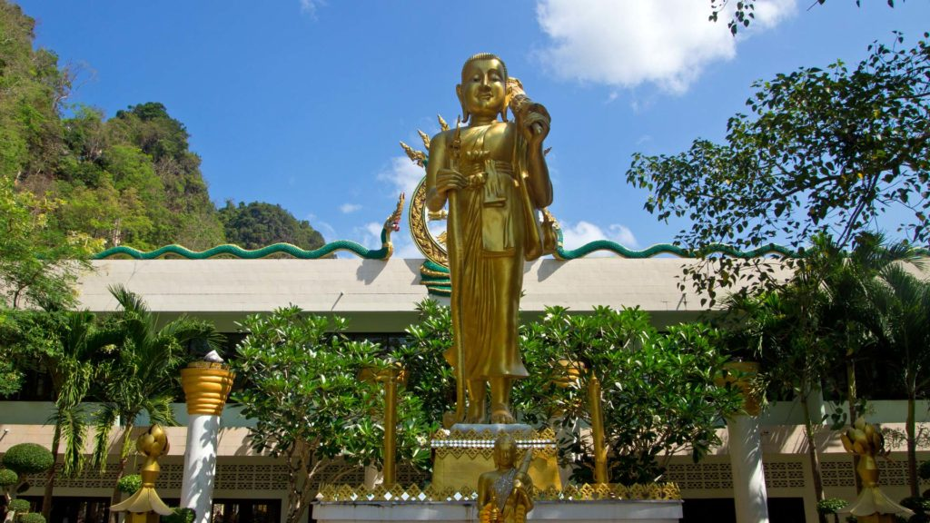 Buddha statues in the Tiger Cave Temple, Wat Tham Suea