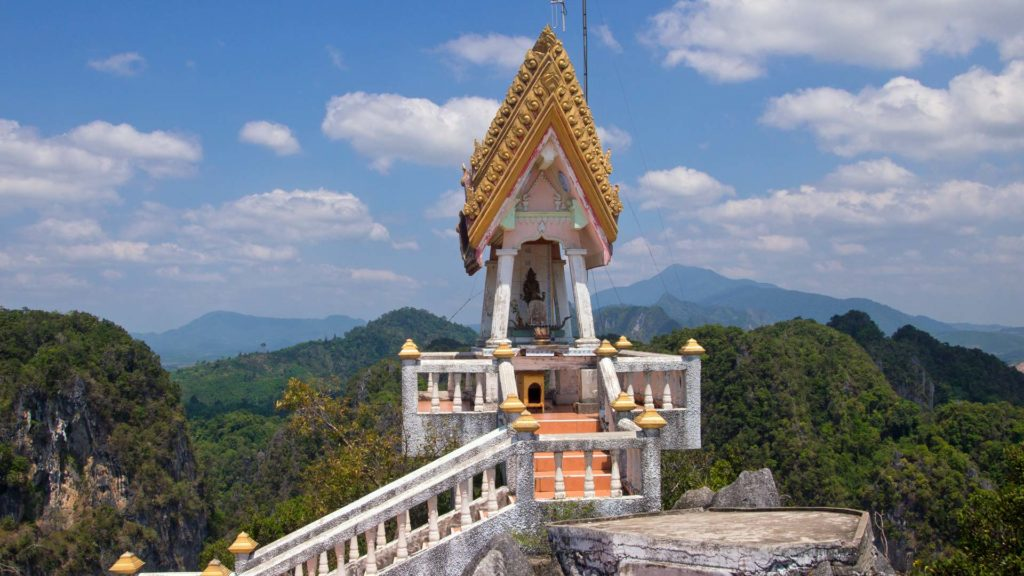 Beautiful view from the temple on top of the Tiger Cave Temple in Krabi