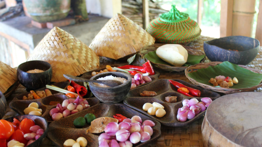 Ingredients for an Indonesian dish