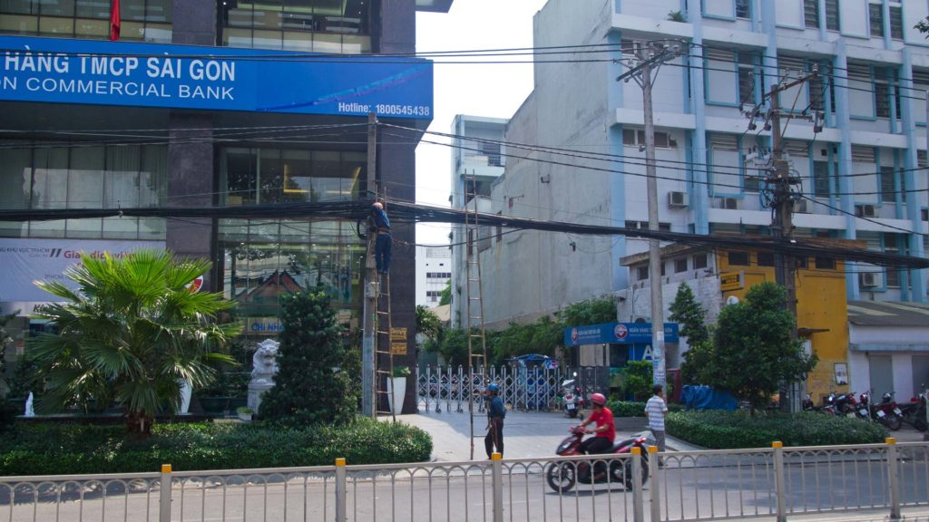 Saigon Commercial Bank Filiale in Ho Chi Minh City, Vietnam