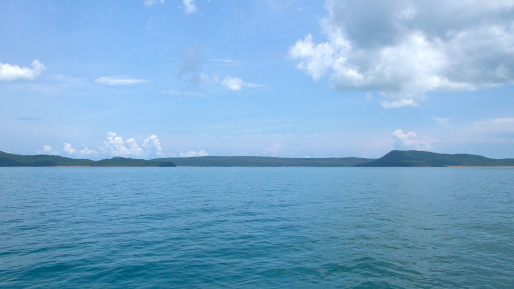 The view at Koh Rong Samloem from the boat, Sihanoukville