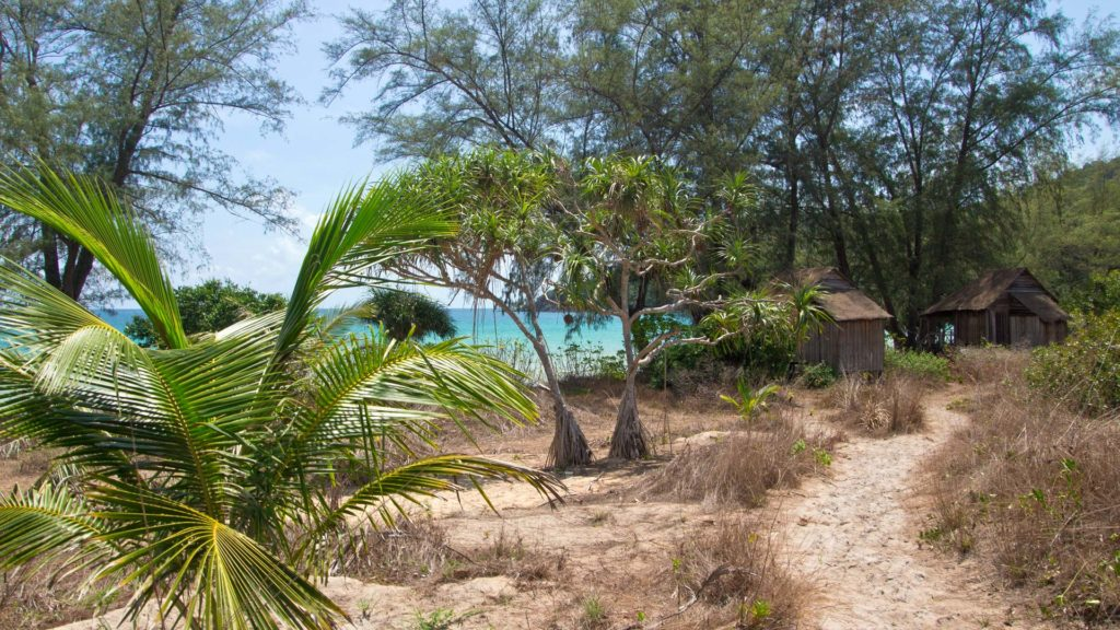 Beach bungalows at the Lazy Beach on Koh Rong Samloem