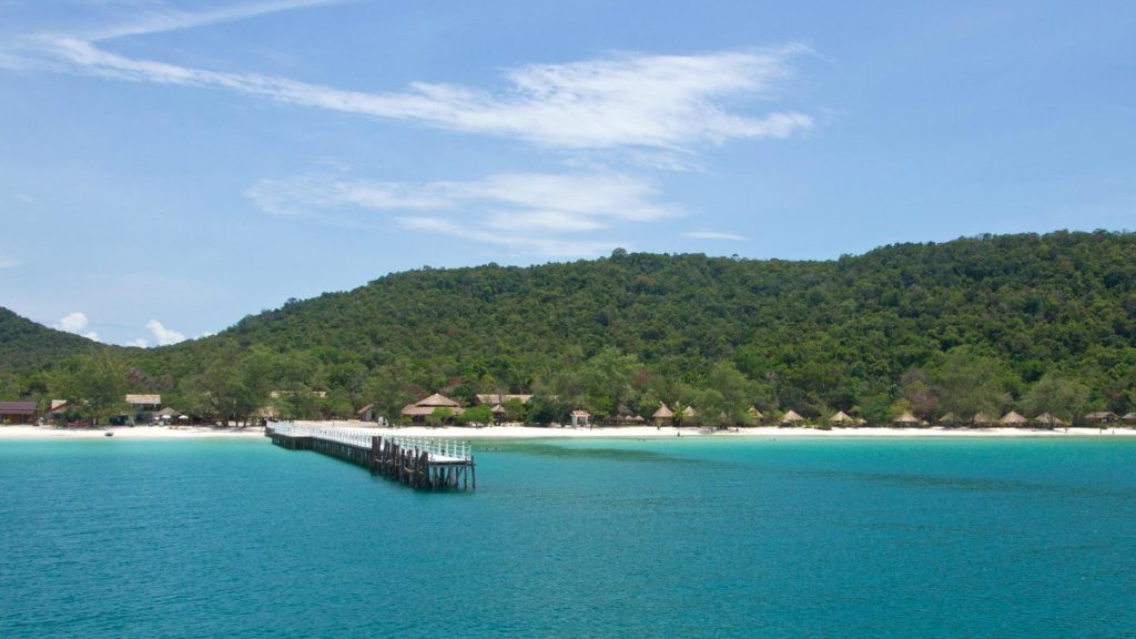 The view at the Saracen Bay on Koh Rong Samloem in Cambodia