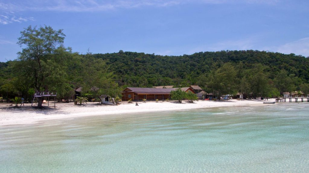 Dreamlike beach on Koh Rong Samloem in Cambodia