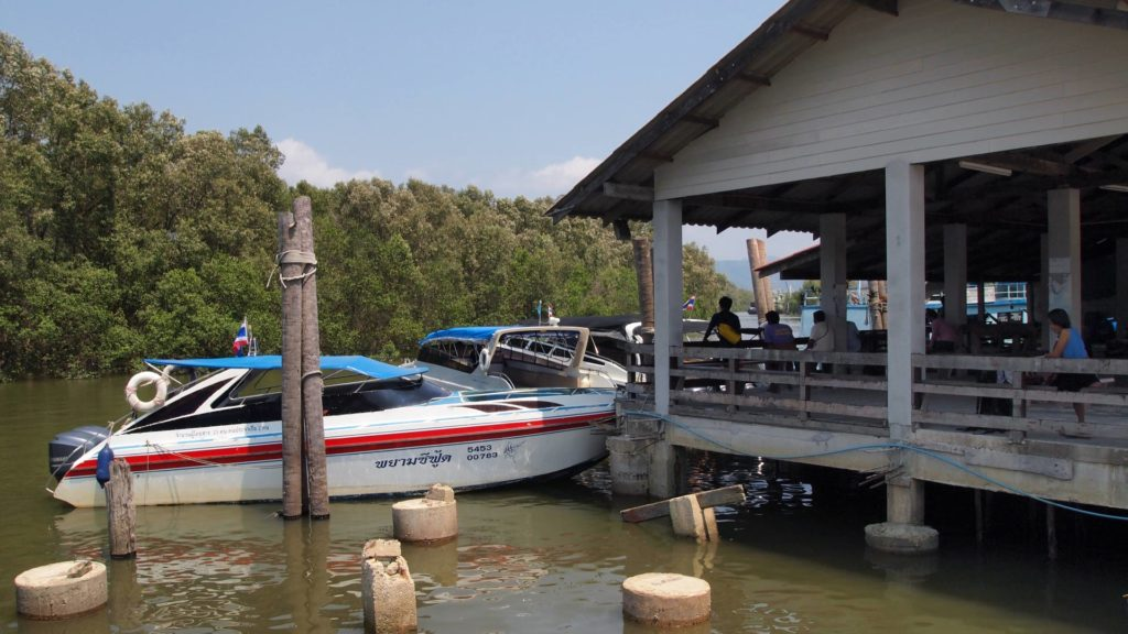 Speed boats at Ranong pier