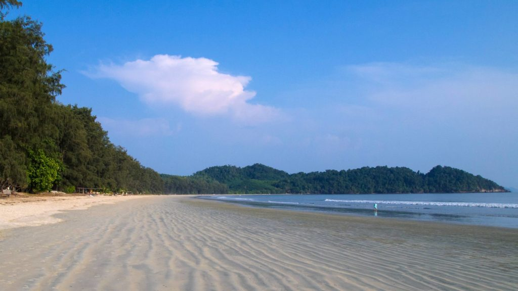 The deserted Long Beach (Ao Yai) on Koh Phayam