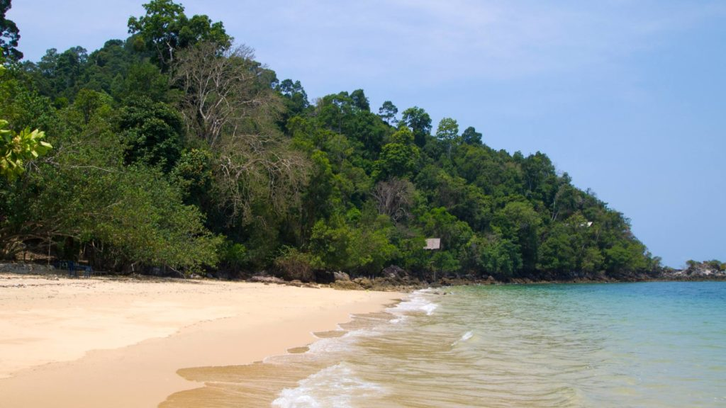 The Ao Kwang Peeb, also called Monkey Bay, in the north of Koh Phayam