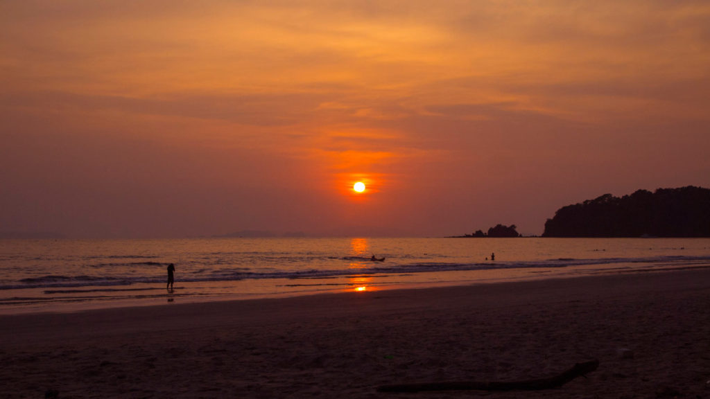 Sunset at Long Beach on Koh Phayam, Thailand