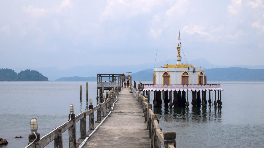 The temple pier on Koh Phayam, Thailand