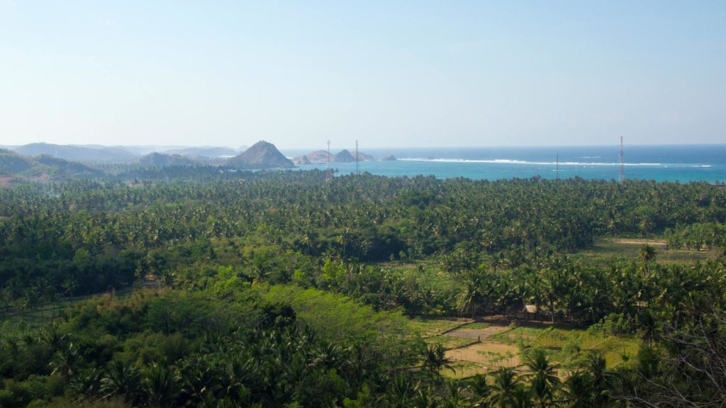 View over Kuta, Lombok, Indonesia