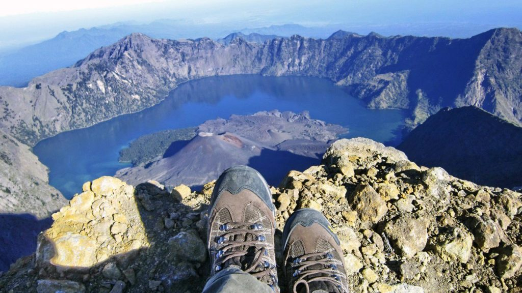 Peak of the Mount Rinjani, Lombok, Indonesia