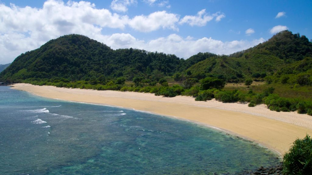 The other side of Mawi Beach on Lombok
