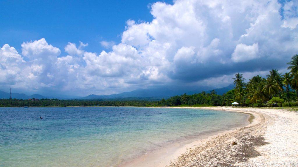The Sire Beach in northwest Lombok