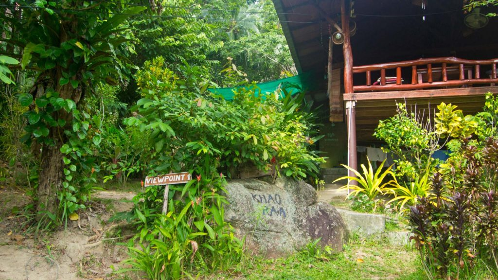 Khao Ra Bungalows, der Start zum Viewpoint