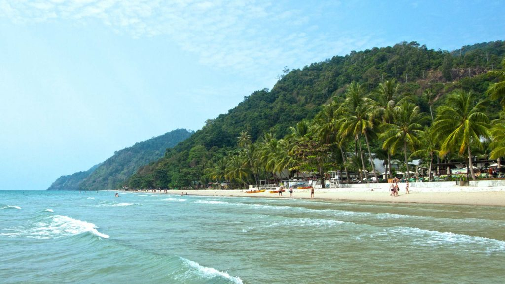 The White Sand Beach at the west coast of Koh Chang