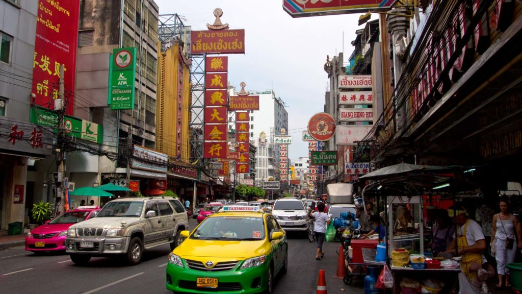 Chinese billboards in Bangkok's Chinatown