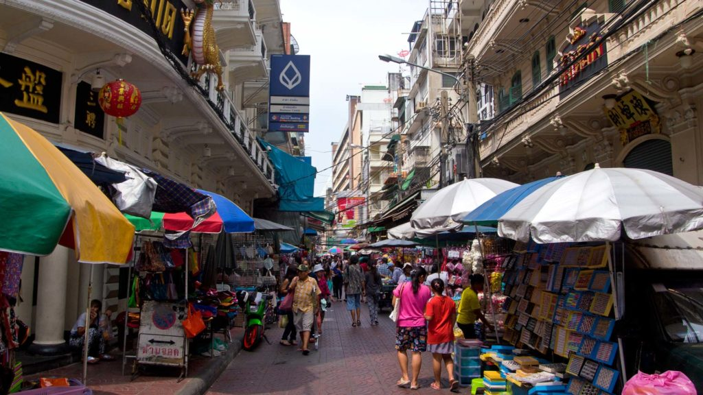 Street vendors in Bangkok's Chinatown
